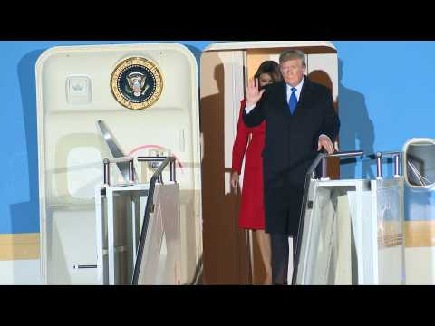 Donald Trump lands in London ahead of NATO summit