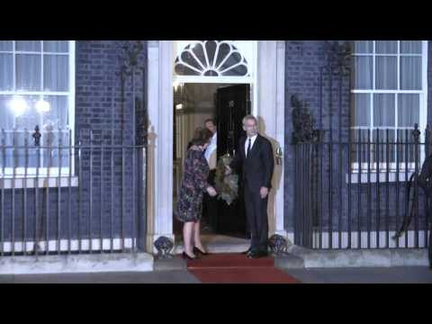 NATO leaders arrive for evening reception at Downing Street (2)