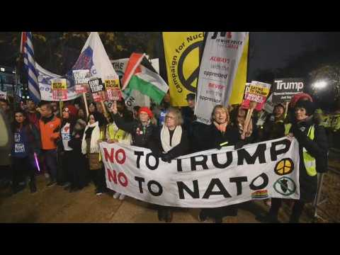 Thousands protest in London against NATO and Trump