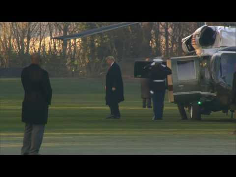 US President Donald Trump arrives in Watford for NATO summit