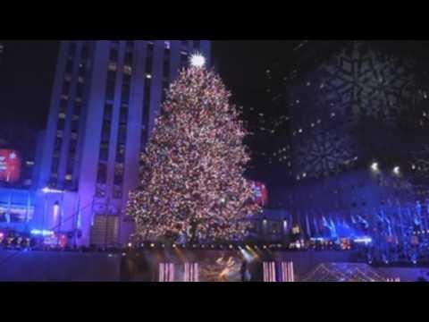 Rockefeller Christmas tree illuminated in New York to kick off holiday season