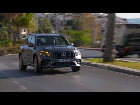 The new Mercedes-AMG GLB 35 4matic in Mountain gray Driving Video