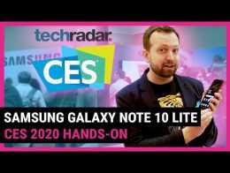 SAMSUNG GALAXY NOTE 10 LITE ile uygulamalı |  CES 2020 şirketinde TechRadar