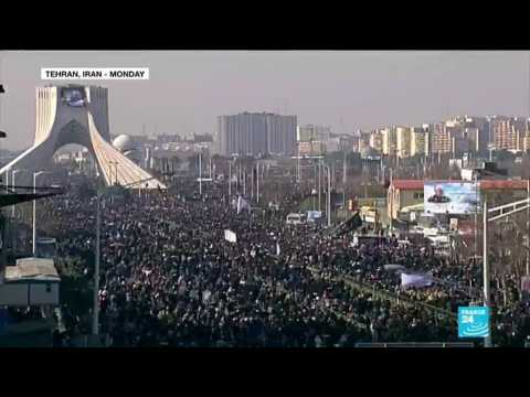 Huge crowds across Iran gather to mourn top general Soleimani
