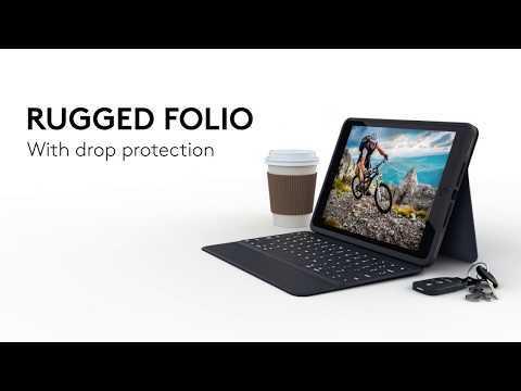 Logitech Rugged Folio Keyboard Case for iPad (7th generation)