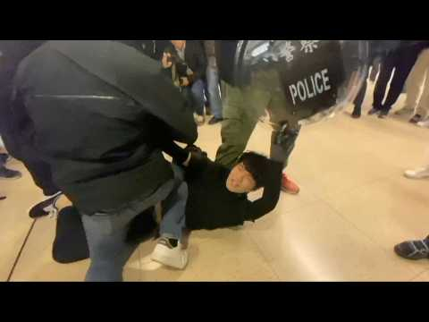 Arrests as Hong Kong calm broken, clashes erupt in mall