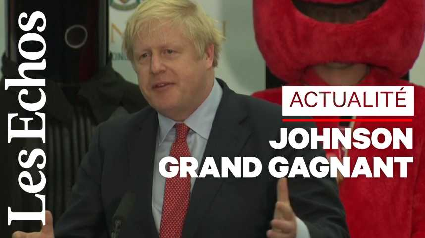 Illustration pour la vidéo Boris Johnson : une victoire pour « mettre en œuvre le Brexit »