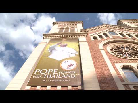 Pope Francis holds a mass at Assumption Cathedral