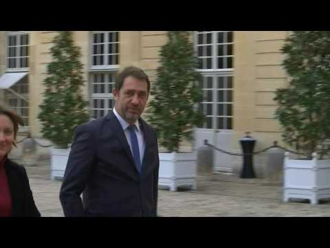 French ministers arrive for domestic violence meeting