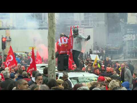 Protesters rally in Marseille over French pension reform