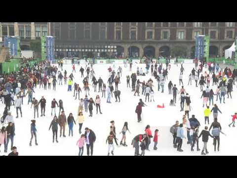 Mexico City launches eco-friendly, ice-free skating rink for holiday season