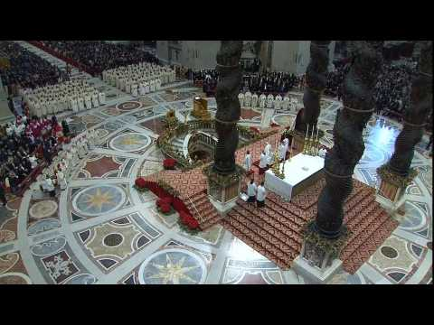 Pope Francis leads mass to mark Vatican's World Day of Peace