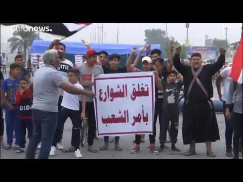 Clashes in Baghdad leave one dead and dozens hurt as anti-government protests continue