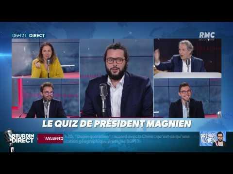 """VIDEO: Qui a déclaré : """"nous n'avons plus un centime !"""" ?... Relevez le quiz du Président Magnien ! - 06/11"""