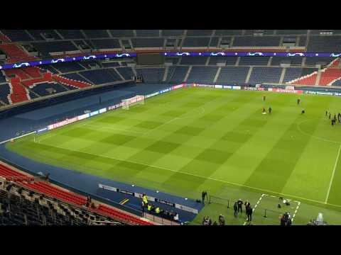VIDEO: PSG-Club Bruges: les Brugeois s'entraînent au Parc des Princes