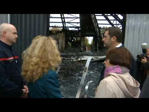 France: Ministers visit burnt circus school in Paris suburb