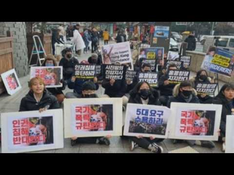 South Korean students hold rally in support of Hong Kong's pro-democracy protest