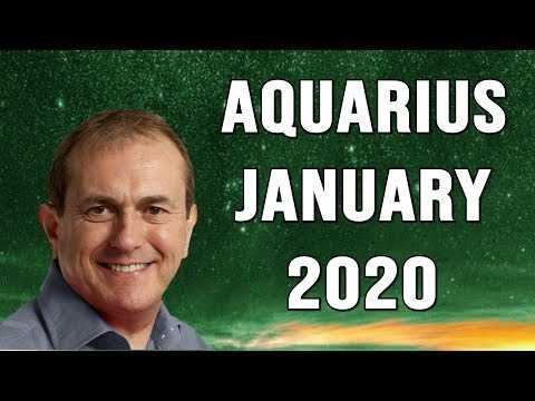 Aquarius January Horoscope 2020 - Let go and release what no longer serves you...