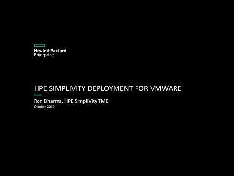 HPE SimpliVity Deployment for VMware