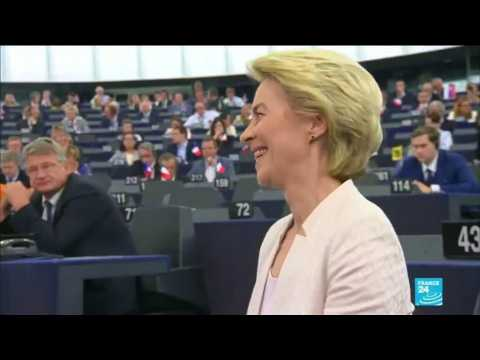 EU chief Von der Leyen's team faces final vote in Parliament