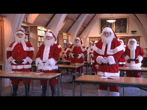 Father Christmas performers go back to school in London