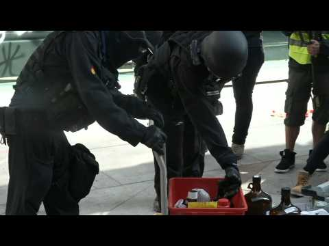 HK police search for petrol bombs, dangerous materials at ransacked campus