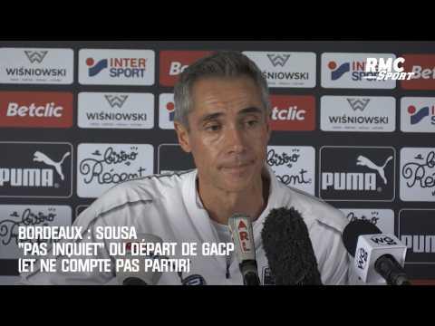 """VIDEO: Bordeaux : Sousa """"pas inquiet"""" du départ de GACP (et ne compte pas partir)"""
