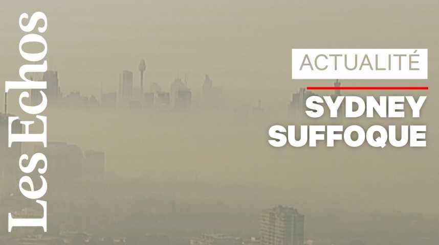 Illustration pour la vidéo Sydney recouverte par une épaisse fumée