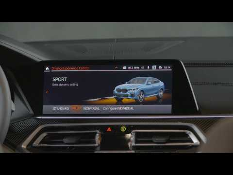 The new BMW X6 M50i Driving Experience Control