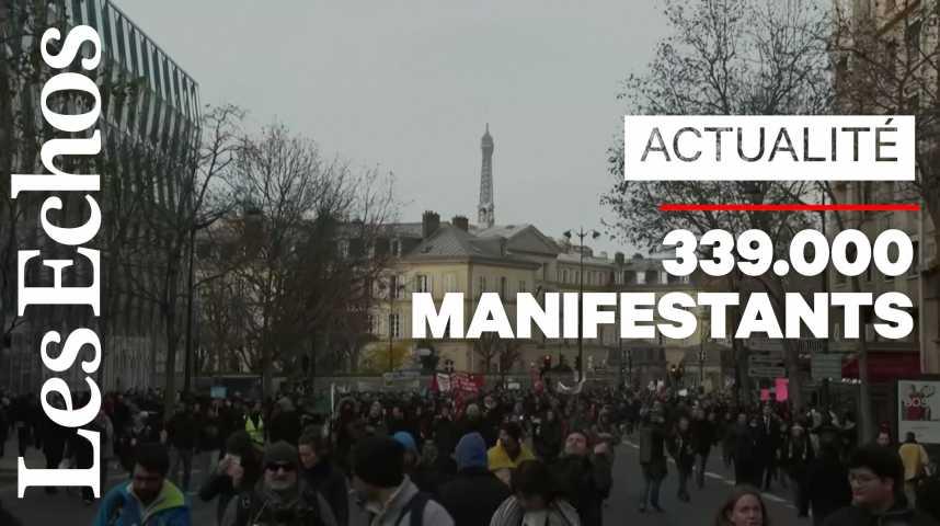 Illustration pour la vidéo Réforme des retraites : mobilisation en baisse dans la rue