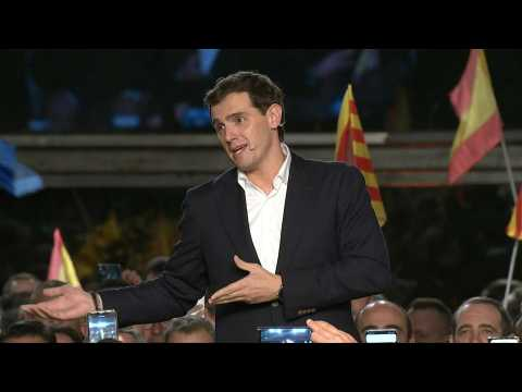 Spain's centre-right Ciudadanos party leader Albert Rivera holds final campaign rally ahead of poll