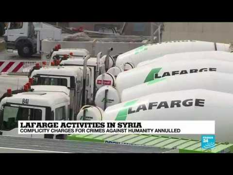 French court throws out 'crimes against humanity' charges against Lafarge