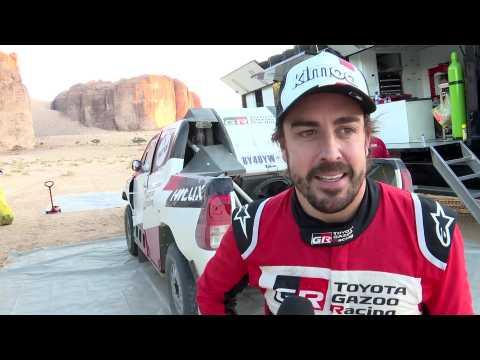 Toyota Gazoo Racing 2020 Dakar Test - Interview Fernando Alonso