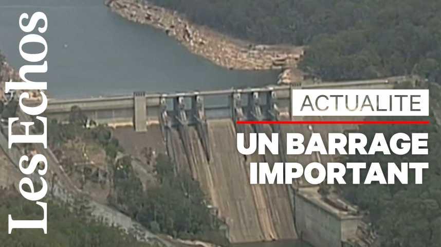 Illustration pour la vidéo Incendies : l'Australie s'inquiète pour un barrage hydraulique