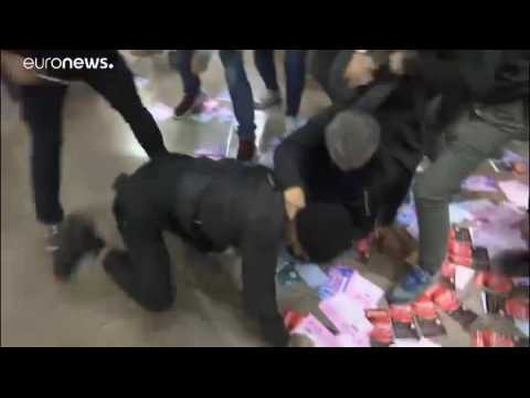 Watch live: Protesters in Hong Kong clash with police in shopping mall