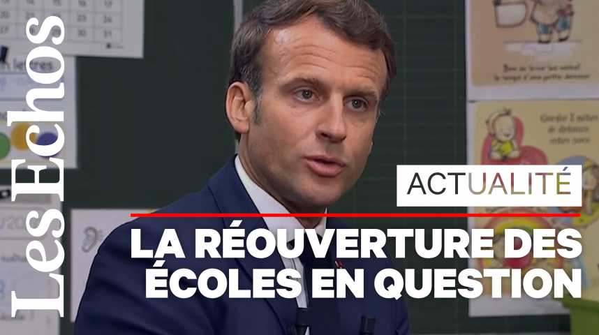 Illustration pour la vidéo E. Macron : « Je préfère une bonne rentrée à une rentrée en nombre »