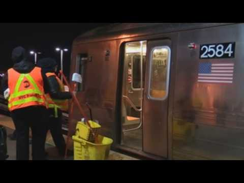 New York City closes its subway at night for disinfection