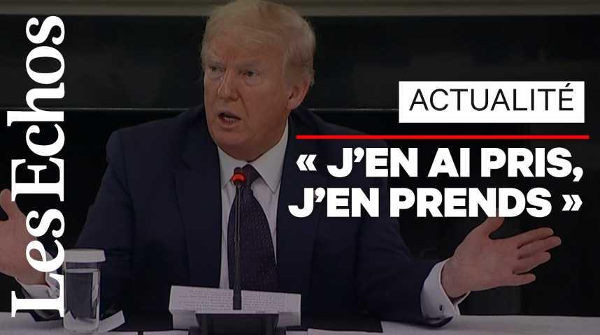 Illustration pour la vidéo Donald Trump annonce prendre de l'hydroxychloroquine à titre préventif