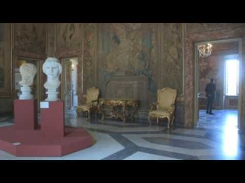Rome's Capitoline Museums almost empty during reopening