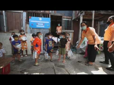 Classes for underprivileged children in Bangkok amid coronavirus pandemic