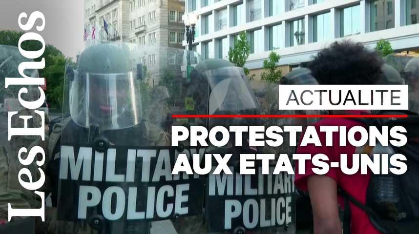 Illustration pour la vidéo Mort de George Floyd: nouvelles protestations aux Etats-Unis, couvre-feu dans plusieurs villes