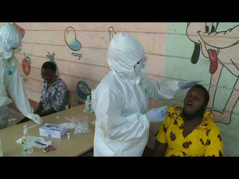 Kenyans queue at mass virus testing centre in Nairobi as cases rise