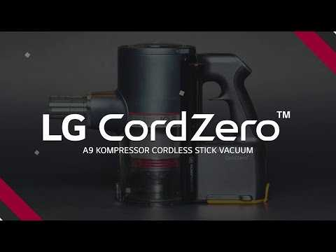 The LG CordZero A9 Kompressor Cordless Stick Vacuum
