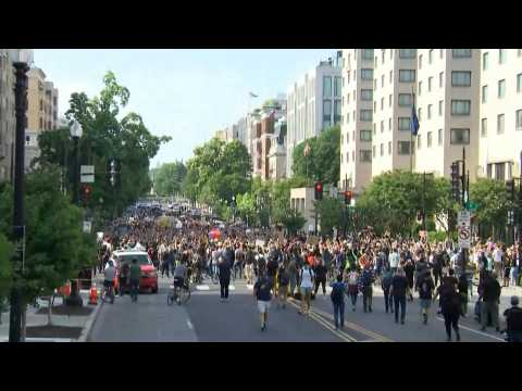 Thousands of protesters march on the streets in Washington DC