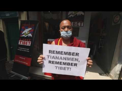 Pro-Tibet activists mark anniversary of 1989 Tiananmen massacre in Dharamshala