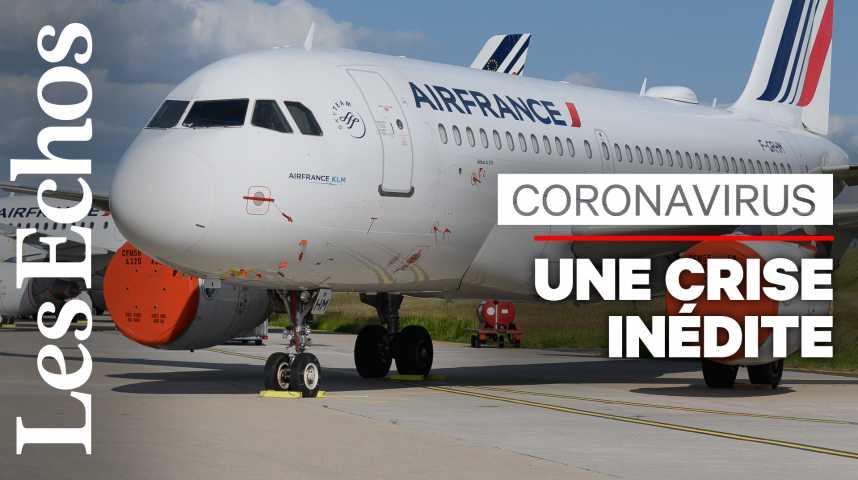 Illustration pour la vidéo Combien le coronavirus va-t-il coûter aux compagnies aériennes?