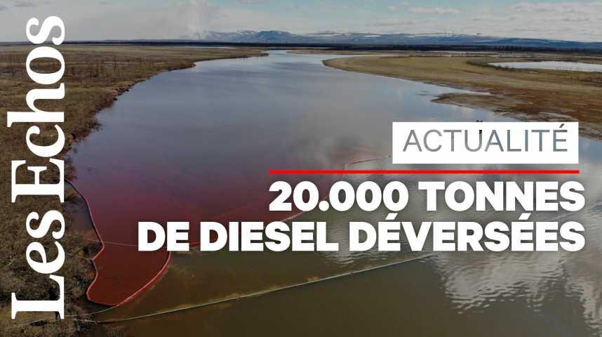 Illustration pour la vidéo Arctique : une fuite de diesel provoque une gigantesque marée rouge