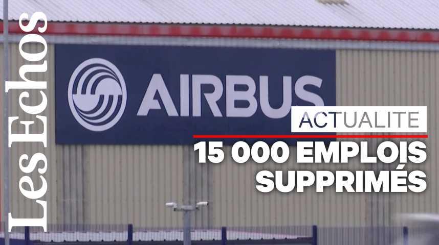 Illustration pour la vidéo Airbus va supprimer 15 000 emplois