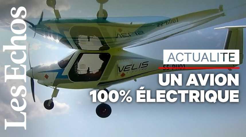 Illustration pour la vidéo Les images du premier avion 100% électrique certifié au monde