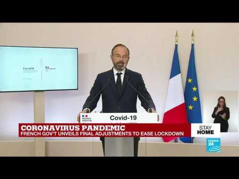 France's PM Edouard Philippe answers questions as gvt to ease coronavirus lockdown measures